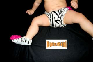 Baby Cloth Diaper Cover/Ruffles/Petti Bloomer ZEBRA NEW