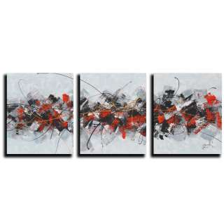 Abstract Y3P Oil Paint 3 piece Canvas Art Set