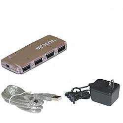 AC Powered 4 port Mini USB 2.0 Hub