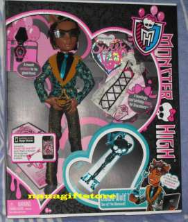 NIB Monster High Doll Sweet 1600 Clawd Wolf Boy VHTF