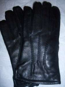 Mens Xlarge Thinsulate black Genuine.Leather Gloves