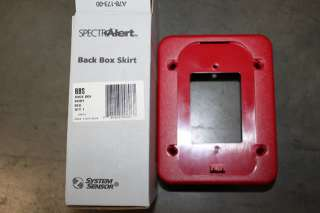 THIS AUCTION IS FOR ONE SYSTEM SENSOR BBS FIRE ALARM RED BACK
