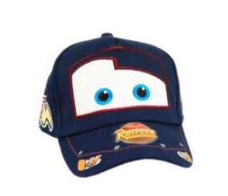 New Disney Pixar Cars Lightning Mcqueen Kid Child Boys Hat Cotton