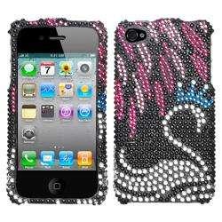 Premium Apple iPhone 4 Swan Rhinestone Case