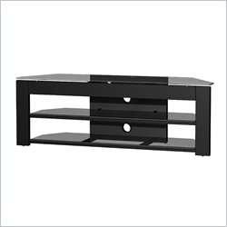 58 Metal & Gls High Gloss Black Finish TV Stand 623788004574