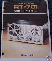 Pioneer RT 701 Reel to Reel Service Manual FREE SHIP!