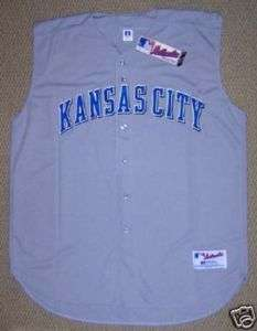 AUTHENTIC RUSSELL KANSAS CITY ROYALS ROAD JERSEY SZ 56