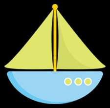 SAILBOAT GREEN BLUE YELLOW NURSERY BABY WALL ART BORDER STICKERS DECAL