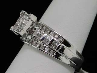 LADIES WHITE GOLD DIAMOND WEDDING ENGAGEMENT BAND RING