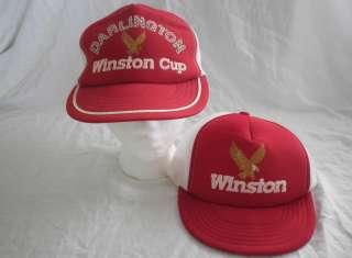 of 2 Vintage Winston Cup Darlington Baseball Cap Hat snapback
