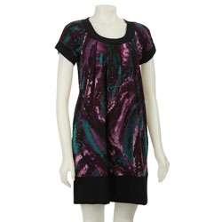 Tiana B. Womens Abstract Pattern Trapeze Dress
