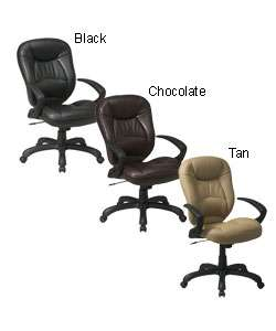 Office Star High back Faux Leather Executive Chair