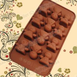 Shape Silicone Mini Mold Chrismas Cake Chocolate Muffins Mould