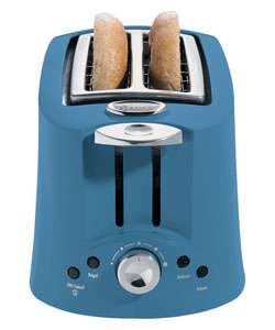 Hamilton Beach Intrigue Blue All Metal Toaster  Overstock