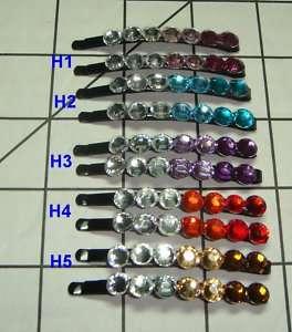 pair Sparkle rhinestones Hair Pins  bobby Pins 0315 2