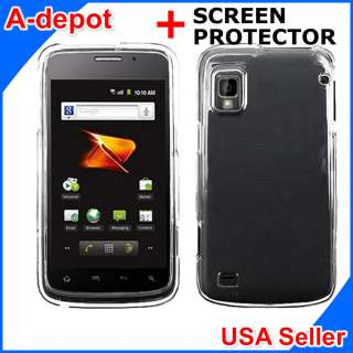 ZTE Warp N860 Boost Mobile Crystal Clear Hard Case Cover +Screen