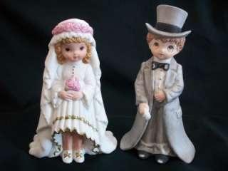 VTG LEFTON BRIDE GROOM BOY GIRL CAKE TOPPER FIGURINES