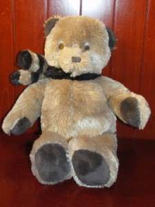 Brookstone NAP Brown Teddy Bear Scarf Plush Stuffed Animal Toy N A P