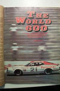STOCK CAR RACING OCTOBER 1974 RICHARD BROOKS JACK BLAND NASCAR VINTAGE