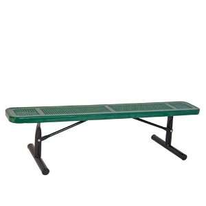 8 Park Bench w/o Back Portable Perf. Color of Frame Color