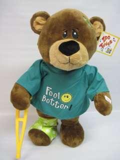 Feel Better Zoo Tunes Singing Dancing Teddy Bear Plush