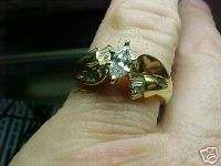 BEAUTIFUL MARQUIS & BAGUETTE DIAMOND WEDDING RING SZ 7