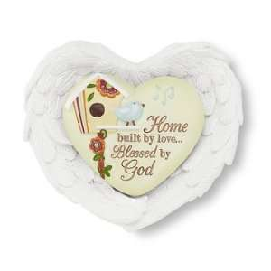 Blessed By GOD Inspirational Heart and Wings Gift Set: Home & Kitchen