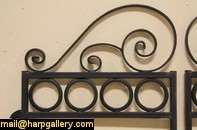 this pair of 15 year old wrought iron gates would be nice for a garden