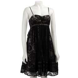 OC by Oleg Cassini Womens Silk Lace Dress