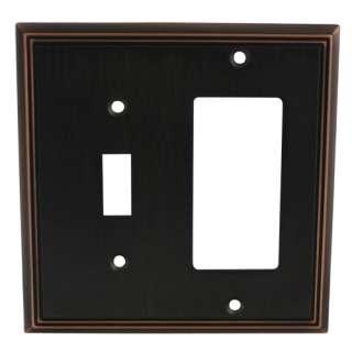 Oil Rubbed Bronze Switch Wall Plate Duplex GFCI Rocker Decora