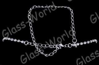 White Heart Austrian Rhinestone Necklace Earrings set