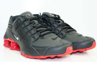 NIKE SHOX NZ BLACK RED NIKE RUNNING Sz 7.5  13