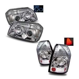 05 08 Dodge Magnum Chrome LED Halo Projector Headlights