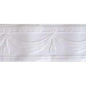 Swag White Paintable Wallpaper Border:  Home & Kitchen