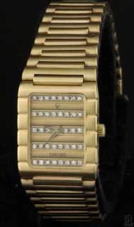 CONCORD HEAVY 18K GOLD FANCY HIGH FASHION .60CT VS DIAMOND DIAL LADIES