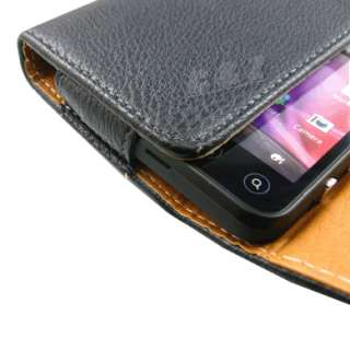 Leather Case Belt Clip Pouch +LCD Film for HTC EVO 3D a