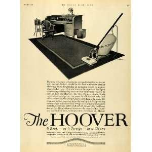 1921 Ad Hoover Electric Vacuum Cleaner Vintage Appliances Office Desk