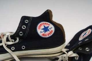 Vintage Converse All Star CT Black Felt HighTop Shoes Men 9 USA