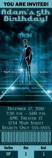 Tron Legacy Movie Birthday Party Tickets Invitations