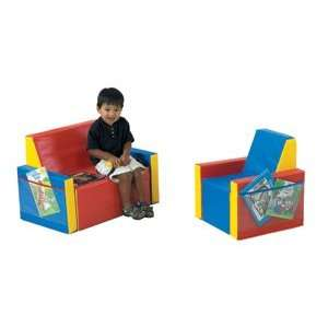 Tiny Tot Reading Seating   Two Piece Set