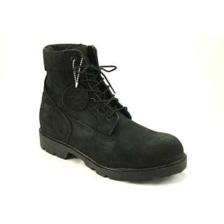Timberland FL 6 Inch Basic Black Nubuck Boots for Men
