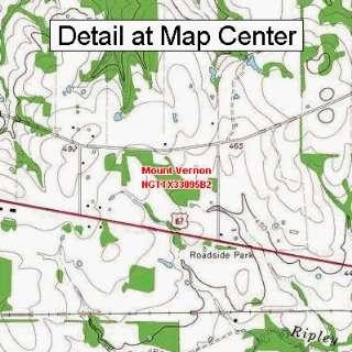 USGS Topographic Quadrangle Map   Mount Vernon, Texas (Folded