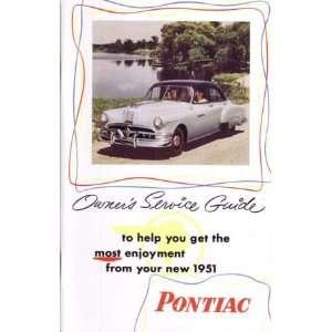 1951 PONTIAC Full Line Owners Manual User Guide