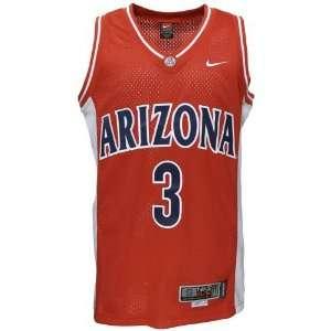 Nike Elite Arizona Wildcats #3 Red Twilled Basketball