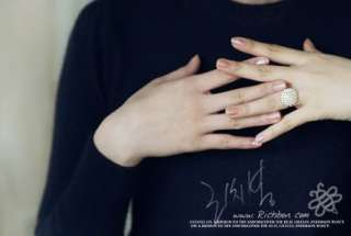 Elegant Fashion Gold Color Pearl Powder Ring Size6 R002
