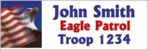Eagle Flag Name Tag Badge Custom Business Scout