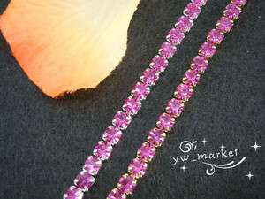 czech crystal rhinestone close chain purple red 1 yard