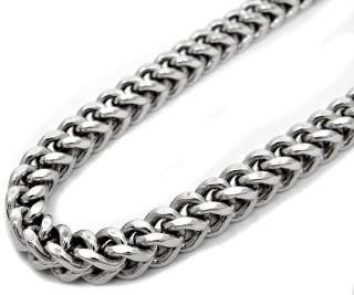 MENS 5MM 40 INCH FRANCO CHAIN NECKLACE WHITE GOLD 10K