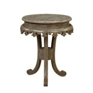 30 003LT Shefield Round Pedestal End Table, Barn