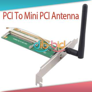 Mini PCI to PCI Adaptor Converter Wireless Wifi Card with Antenna for
